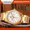 2016 new promotional Gold plated men quartz wrist watch Chenxi brand watch