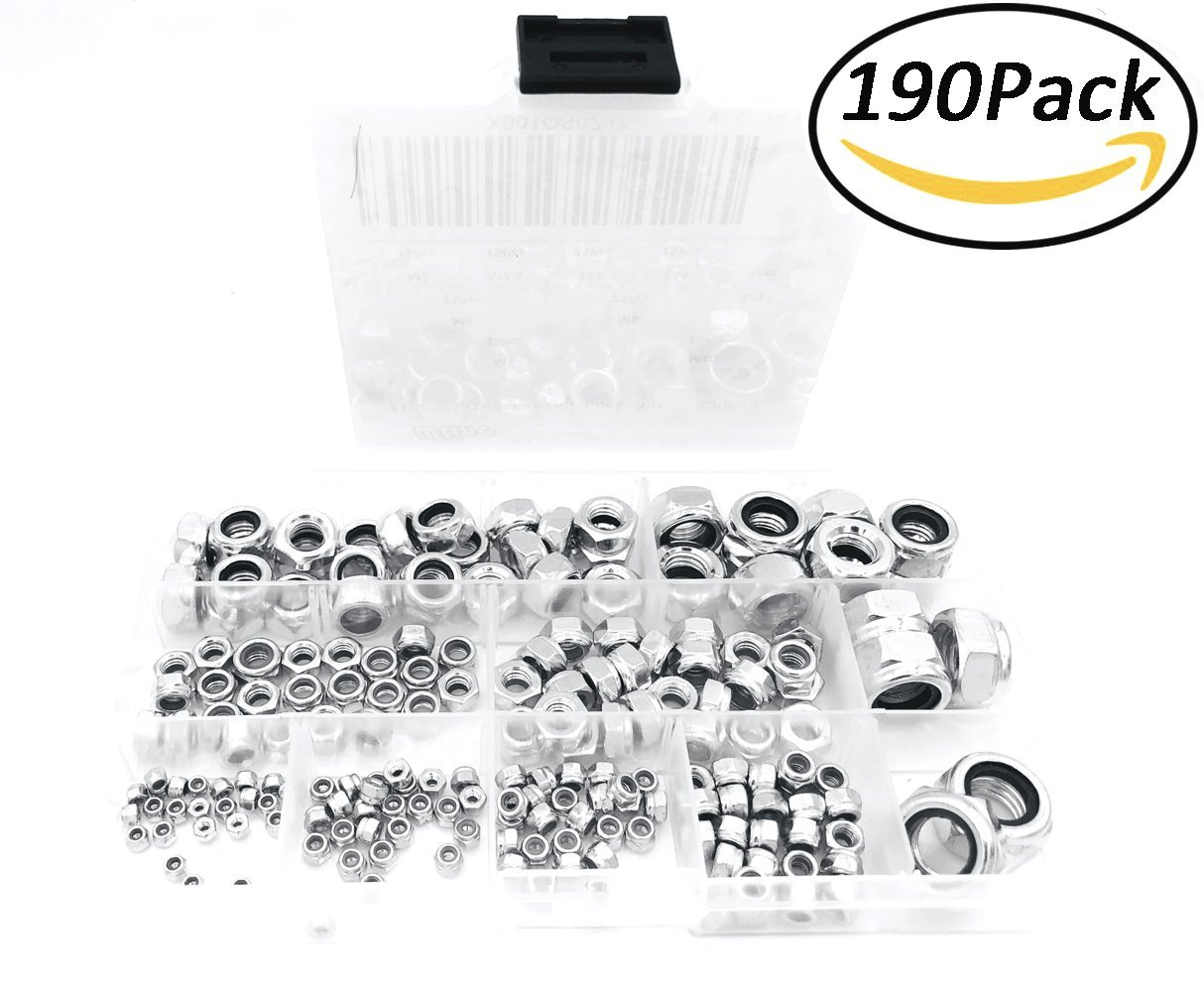 100-Pack The Hillman Group 180397 1 1 1 5//16-18 Whiz Lock Nut