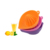 Eco-friendly household silicone orange & lemon juice squeezer