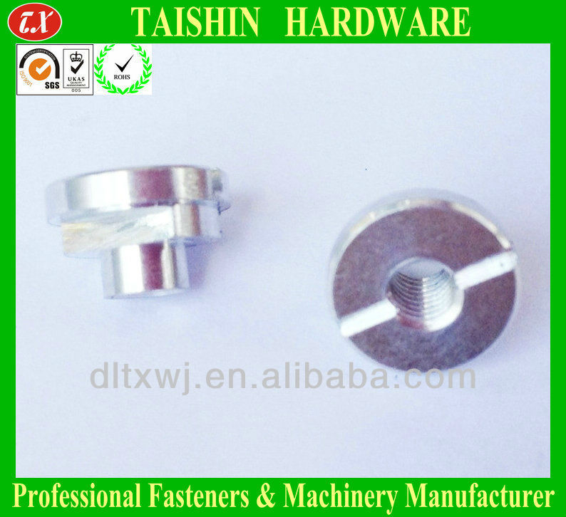 Half Round Sheet Metal Plate T Nuts With Two Round Hole