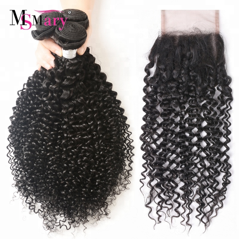 Full Cuticle Aligned <strong>Virgin</strong> <strong>Hair</strong> Wholesale Kinky Curly <strong>Brazilian</strong> <strong>Hair</strong> <strong>Bundles</strong> with Lace Closure
