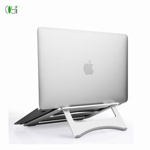 Portable Aluminum Alloy Slim Laptop Notebook PC Riser Stand for Macbook Air Pro silver gray