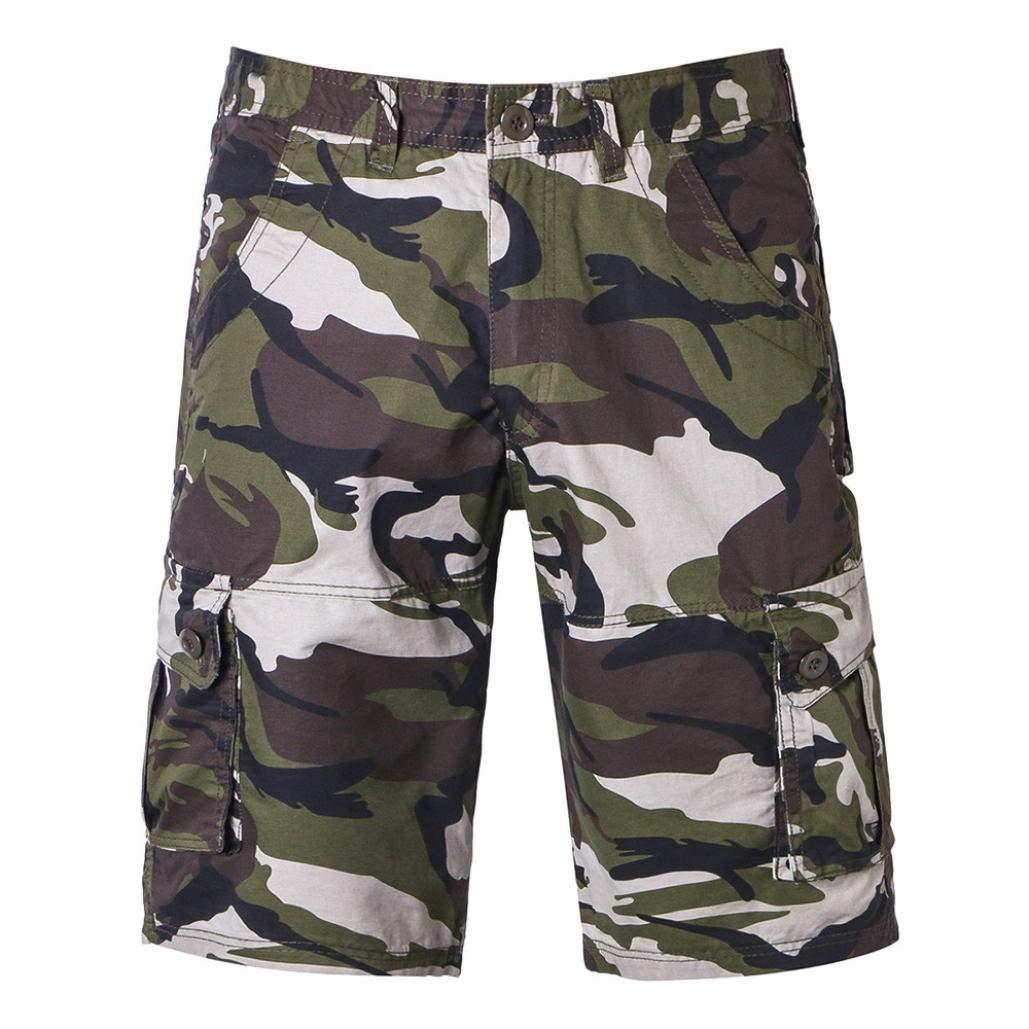 5a5315d814d Get Quotations · Photno Men s Trouser Work Shorts Camouflage Cotton Sports  Beach Pocket Jeans Cargo Shorts Pant