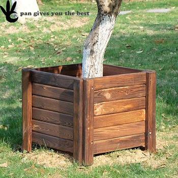 Square Outdoor Wooden Garden Planter Box Buy Planter Box