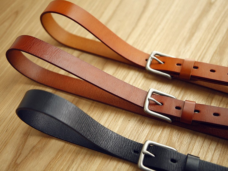 Genuine calf leather belt