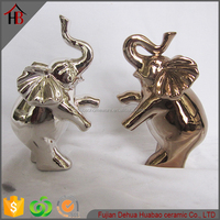 fashion plating ceramic elephant family desktop decor