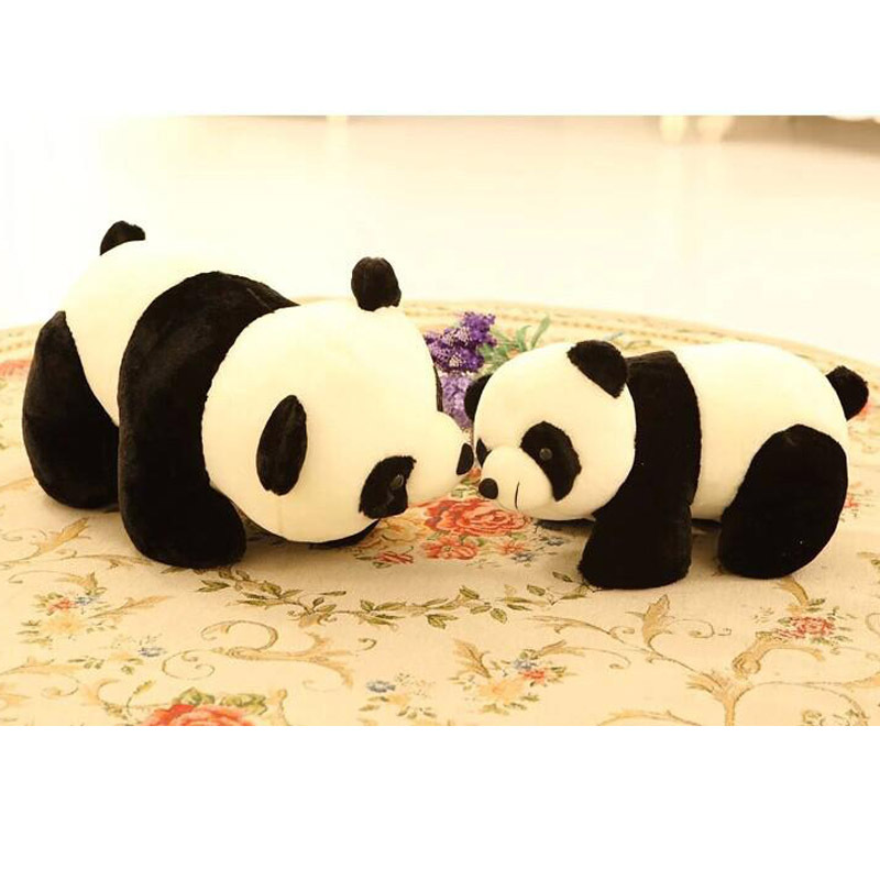 New Cute Simulation panda doll Stuffed plush toys toy Kawaii pandas soft anime white and black gifts for children from china