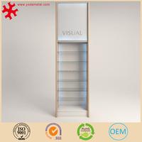 Pharmacy shelves for pharmacy retail store interior design display systems