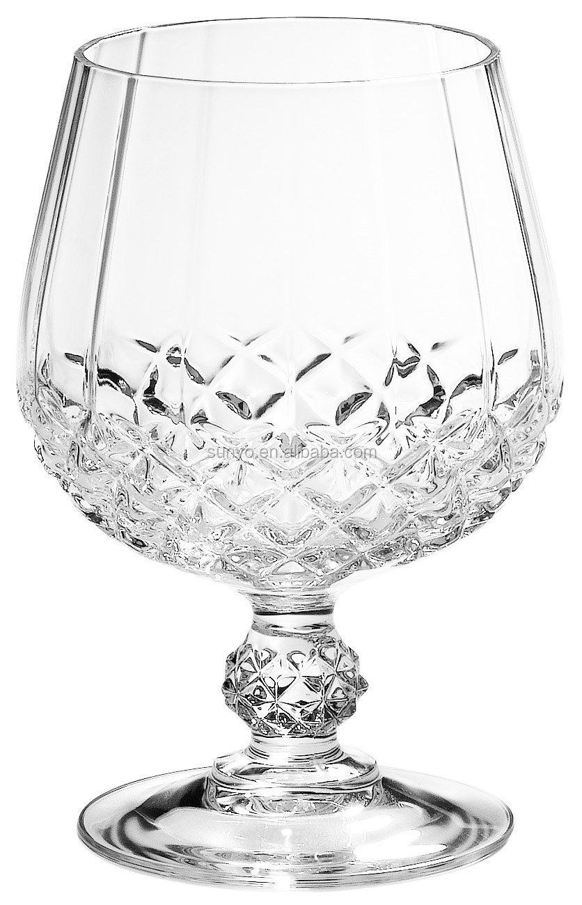 Cristal longchamp brandy snifters glass set of 4 handcut for Arc decoration arques