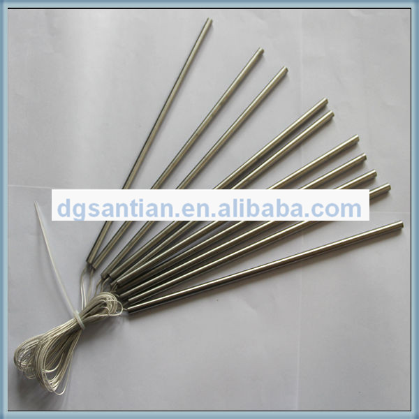 santian heating element 6.4mm Diameter Cartridge heater with the wire come from internal heating products