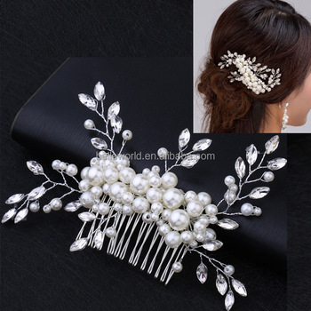 Pearls bridal hair accessory women Wedding hair comb on wedding