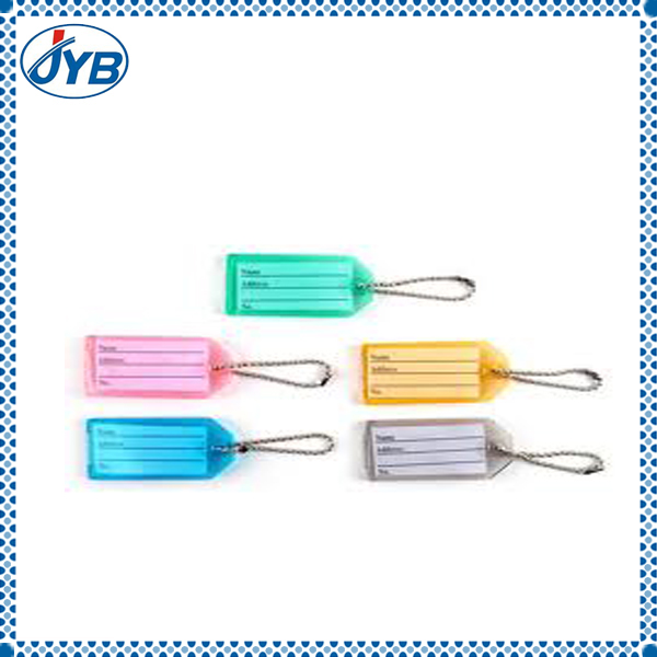 ID holder key rings tag plastic