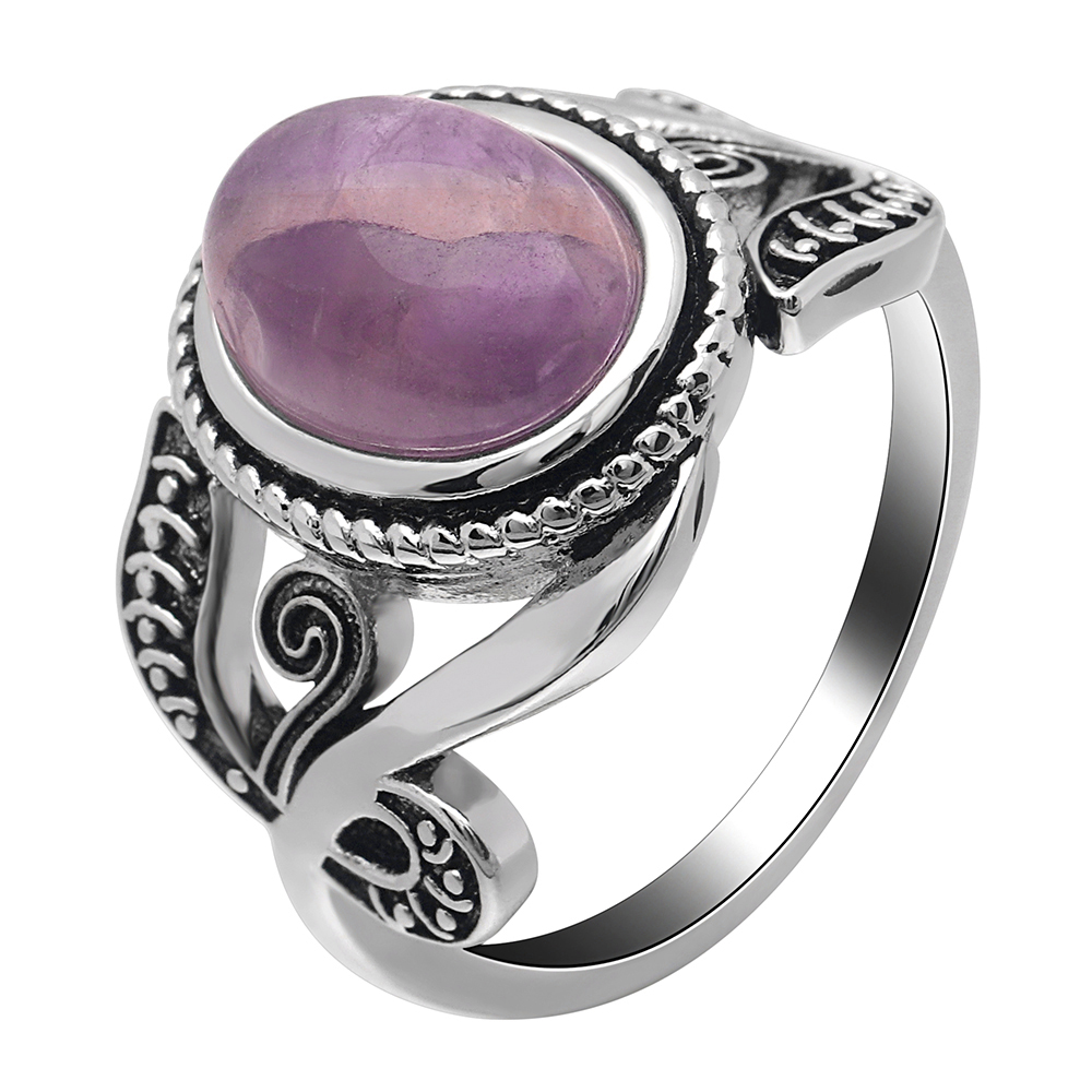 Hainon Jewelry Wedding Rings For Women Purple Color Jade Engagement Ring Whole Men Gold