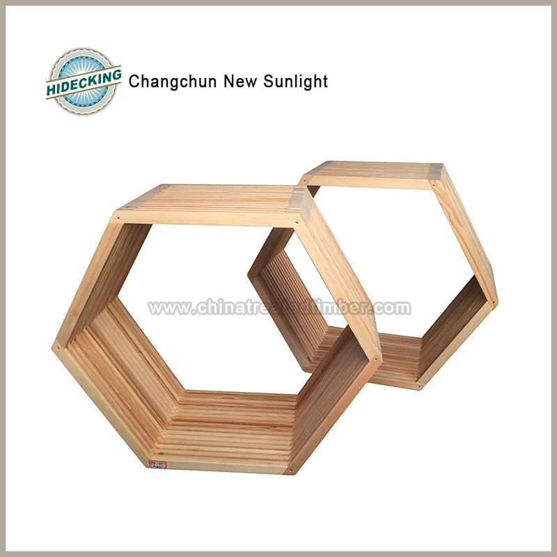 Hexagon Holz Kreuz Rahmen Wanddekoration Mit Natürlichen Farbe - Buy ...