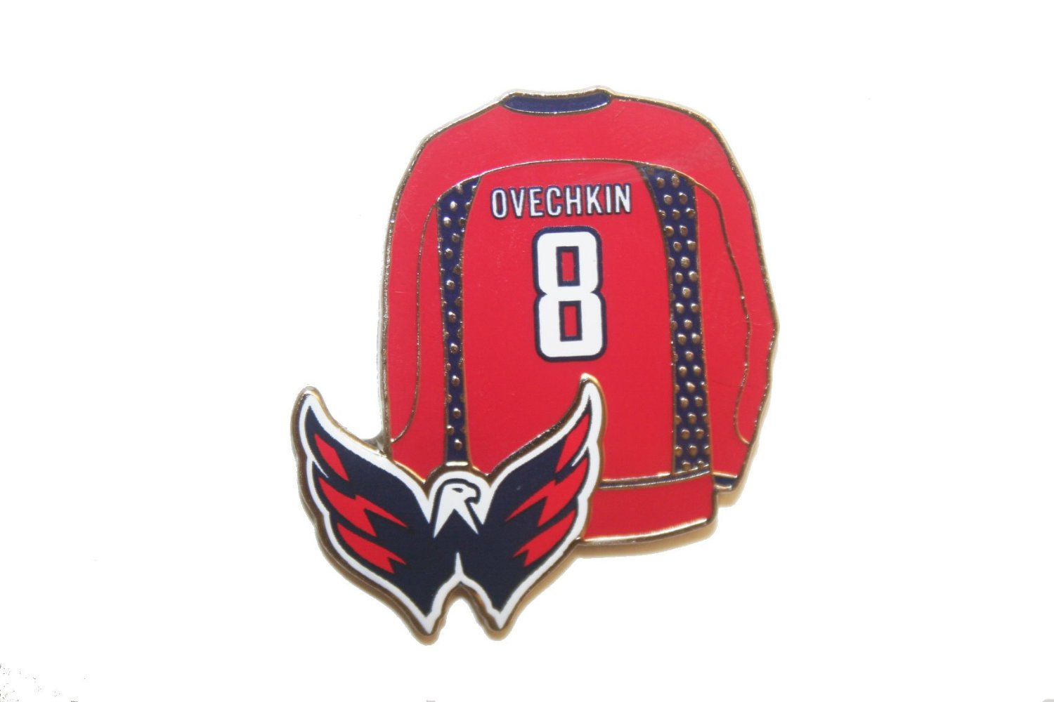 638a159d9 Alexander Ovechkin #8 Washington Capitals Red Jersey Home .. NHL Hockey  Licenced Logo .