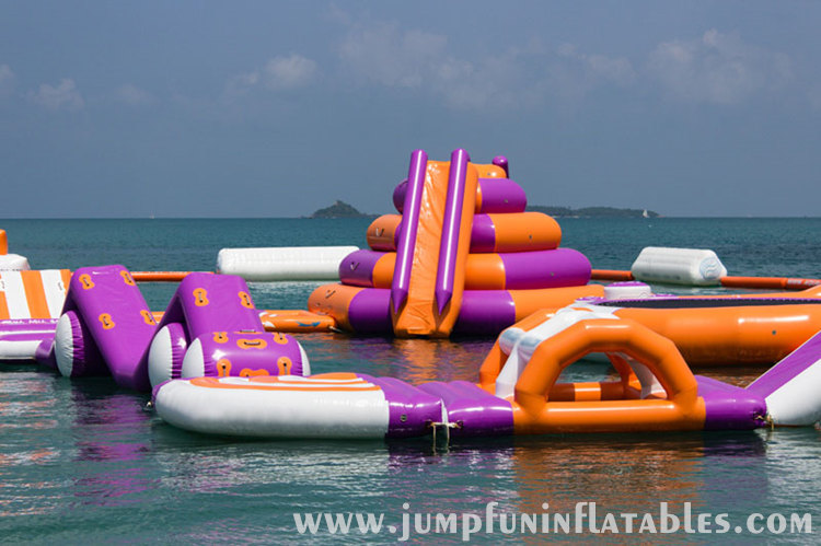 Giant Water theme park EXISTING Inflatable floating park for adults 2016