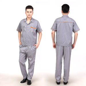 Factory production Men Lapel Suit workwear 100% cotton work uniform
