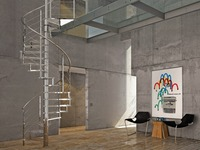 modern indoor stairs stainless steel spiral staircase kits