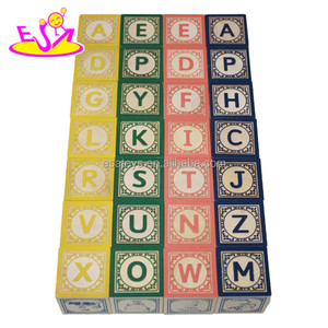 new kids wooden building blocks set,wooden alphabet building blocks W13A042-