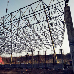Prefab Wind-resistant Bolt Joint Space Frame Coal Storage Bin