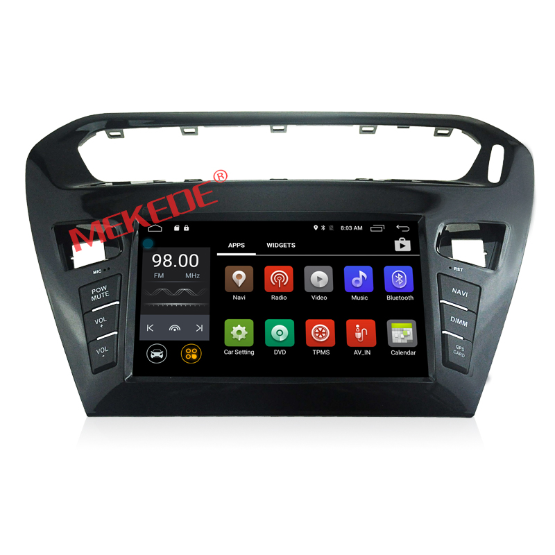 Hot auto parts radio special for Peugeot 301 with android 7.1 quad core 2G +16G