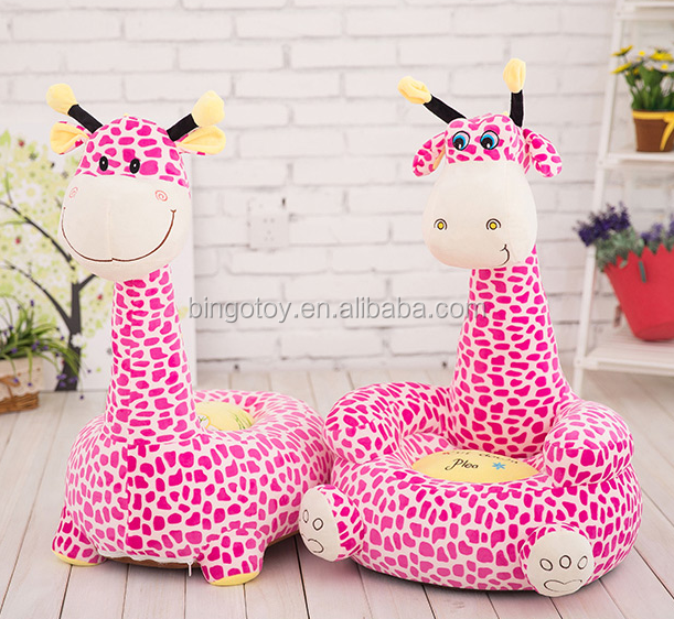 Charmant Popular Cheap Safety Soft Plush Animal Mini Kids Baby Foam Sofa Chair Plush  Giraffe Chair