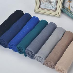 Plain hijabs for women viscose solid shawl Glitter Gold scarf muslim head wrap elegant scarves 20 colors