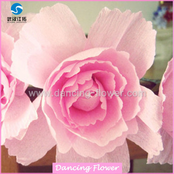 Pink giant blooming paper handmade peong flower buy pink paper pink giant blooming paper handmade peong flower mightylinksfo
