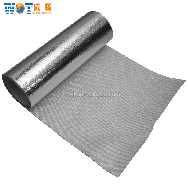 0.6mm Aluminum-foil Coated Fiberglass Cloth FW600