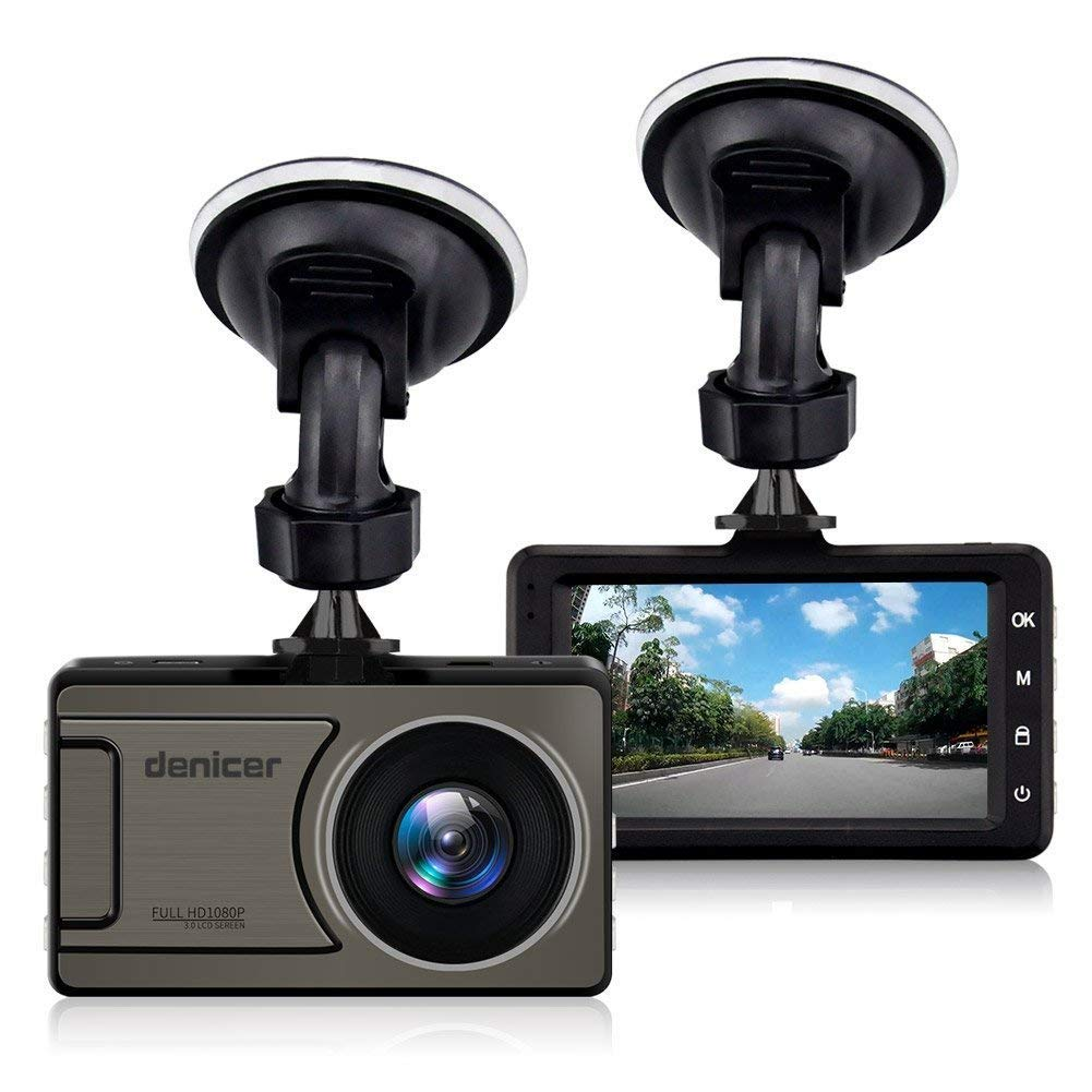 M10T Car Camera Dash Cam FHD 1080P Dashboard Video Driving Recorder 170 Degree Wide Angle DVR With Metal Shell, WDR, G-sensor, Loop Recording