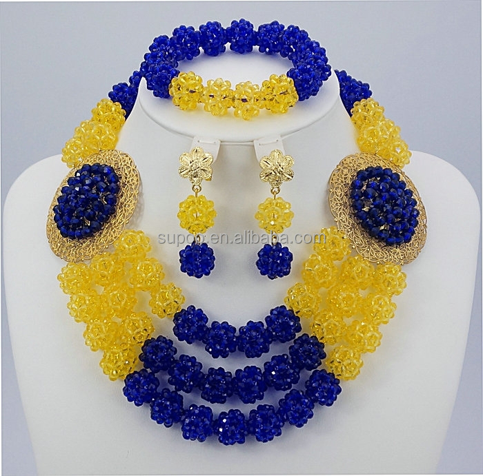 latest design african beads jewelry set nigerian coral beads jewelry ...