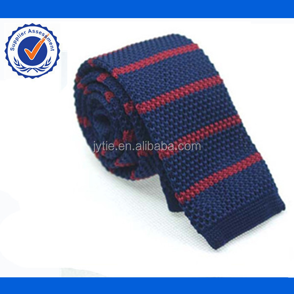 Navy Stripe Pattern Knitted Ties Buy Knitted Tiesold Fashioned