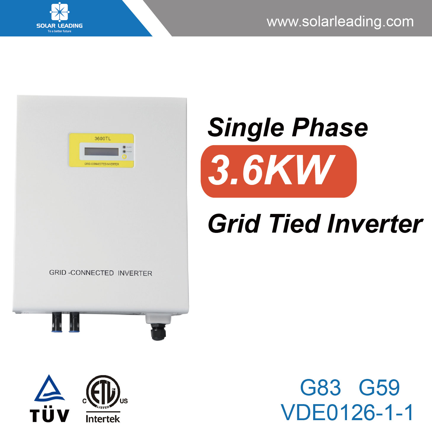 High Efficiency 3.6kw Goodwe Inverter Connect To Import Solar Panels ...