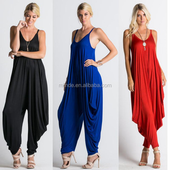 special promotion search for official browse latest collections Loose Fit Tank Harem Jumpsuit Women's Spaghetti Strap Jumpsuit V Neckline  Harem One Piece Romper Plain - Buy Ladies Tank Harem Jumpsuit,One Piece ...