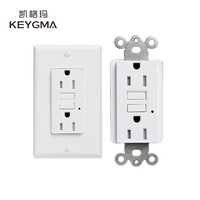 KEYGMA Residential/General-Purpose 220V 15A White GFCI Wall Outlet at UL943 Standard