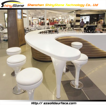 Imaginable S Shaped Classy Solid Surface/artificial Marble Bar Counter  Chairs