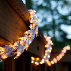 18' Garland Lights, 600 Clear Lamps, White Wire Patio Deck Party Lights Christmas Wedding Holiday luminous Lights