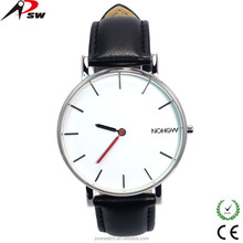 Big dial stainless steel case leather watch strap wholesale electronic watch with factory price