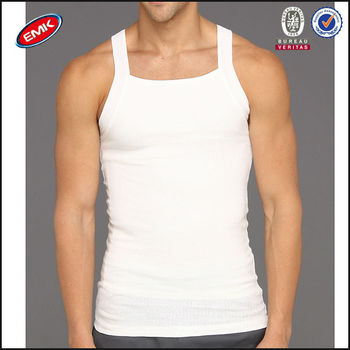 Alibaba China Wholesale Plain White Slim Fit Compression Mens Tank ... 49207c1f3