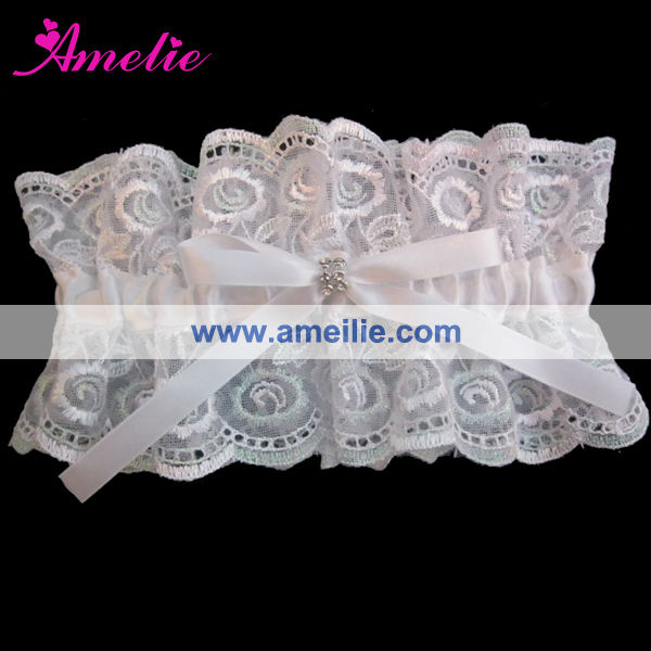 AG6911 Made in China Cotton Lace White Garter