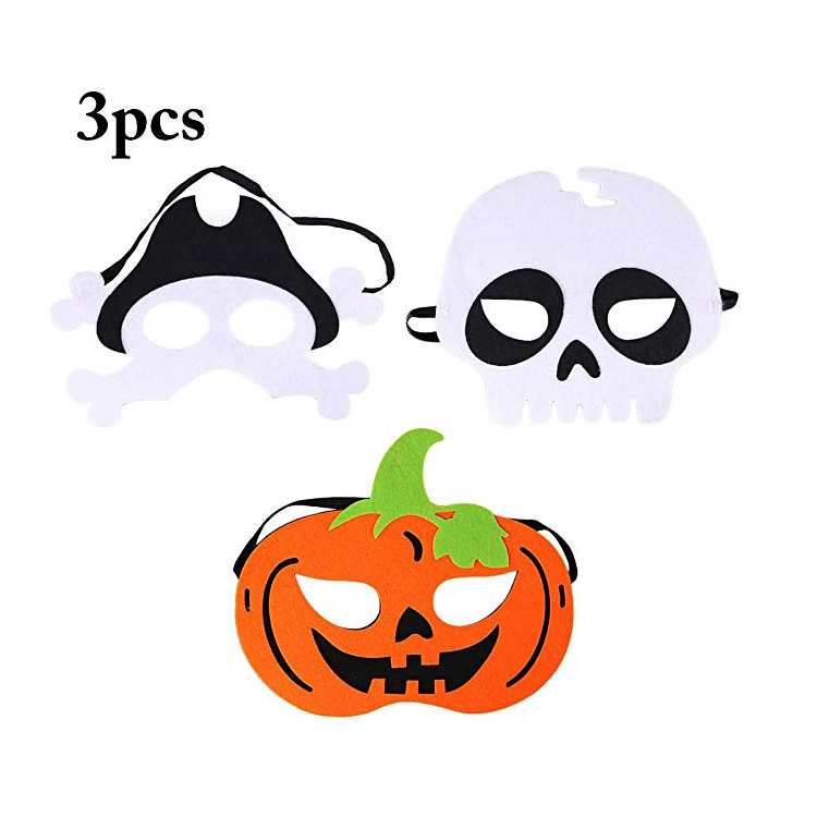 China Factory Wholesale <strong>Custom</strong> Kids Terror <strong>Halloween</strong> Felt Party <strong>Masks</strong>