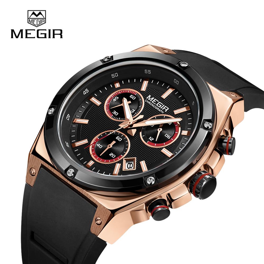 China Top 10 Wrist Watch Brands Megir 2073 Mens Luxury Watch Custom