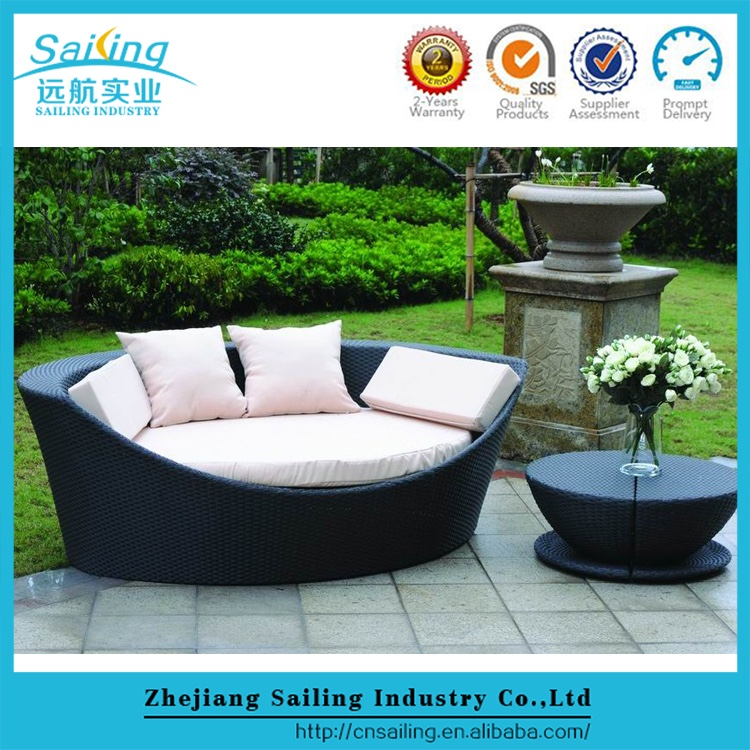 Outdoor Best Inexpensive Leisure Rattan Waterproof Sun Lounger Cushion