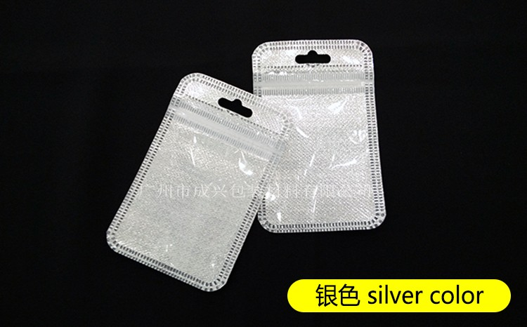6*8cm phone ring stent packaging bass Ring Holder reclosable silver gold poly bags high quality Zipper bag