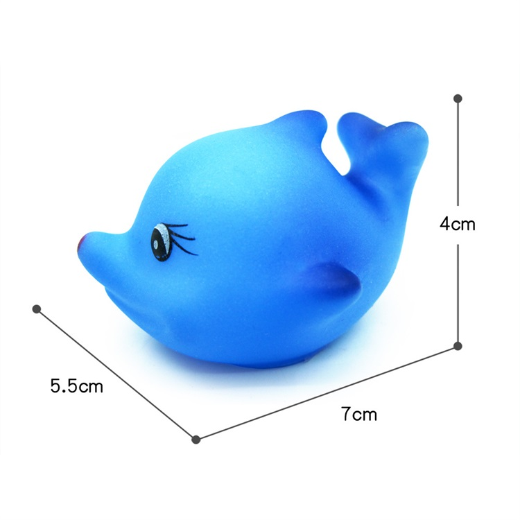 Rubber Cute Animal Shape Squeeze Sound Swimming Toy