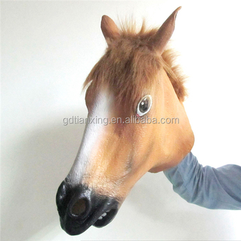 halloween latex mask latex horse mask fits all adult costume mask
