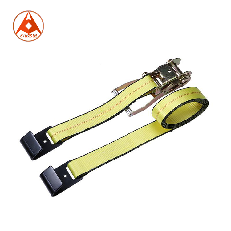 Polyester Cargo Lashing Ratchet Tie Down Strap with Hooks