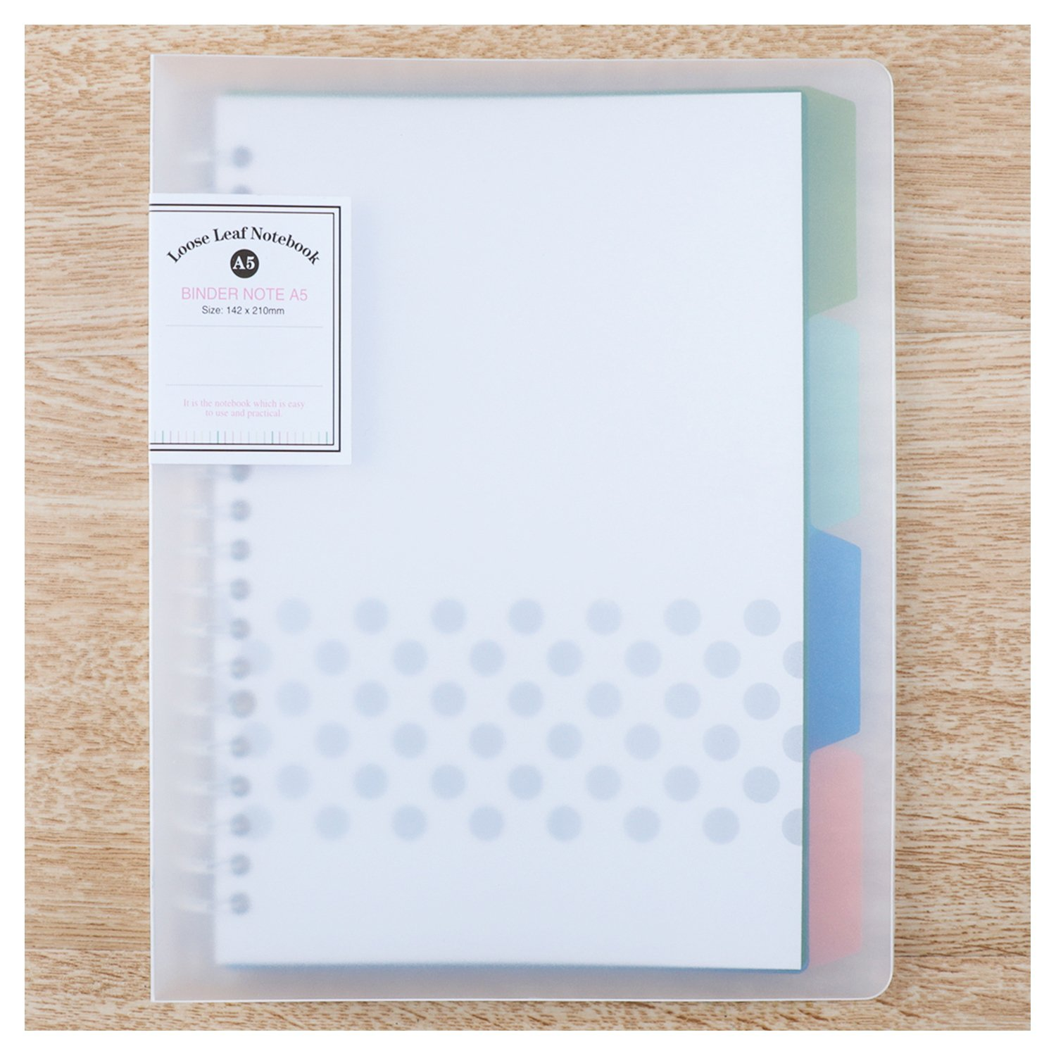 Filing Products Pratical Cover For Notebook File Folder Refillable 20 Holes Ring Binder Spiral A4 Hot Selling