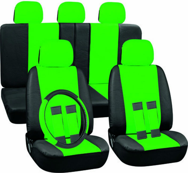 Magnificent Pu Faux Leather Seat Covers Full 17 Piece Set Green And Black For Car Truck Suv Van Buy Green And Black Truck Seat Cover Pure Leather Car Seat Cjindustries Chair Design For Home Cjindustriesco