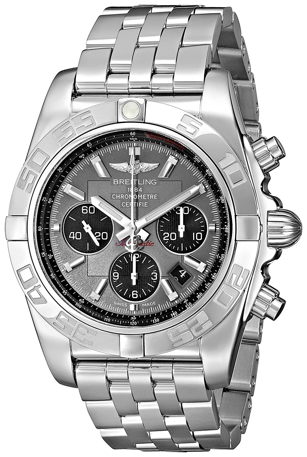 7b37836e8ce Breitling Men s AB011012 F546 Chronomat B01 Grey Chronograph Dial Watch